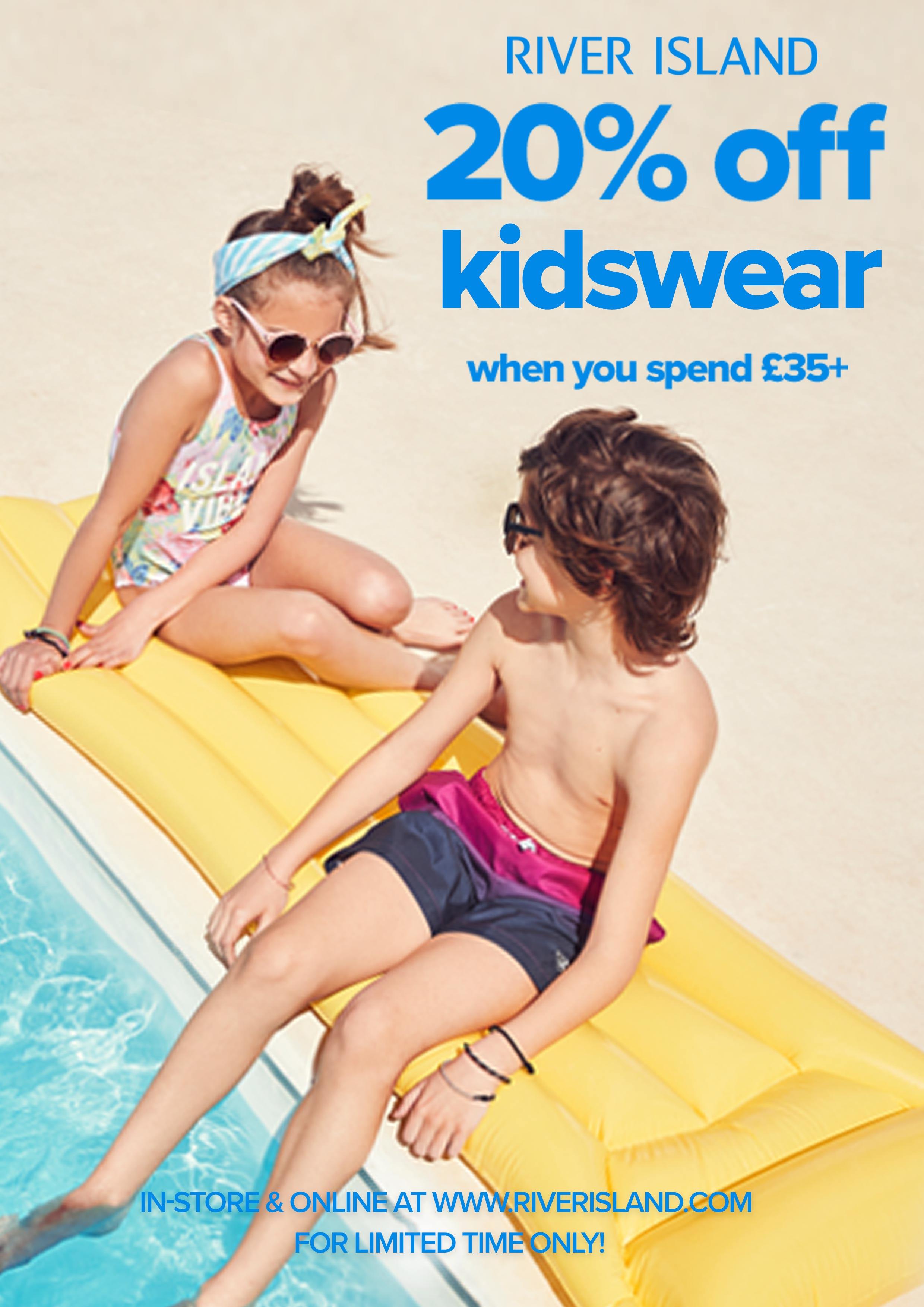 20% Off Kidswear