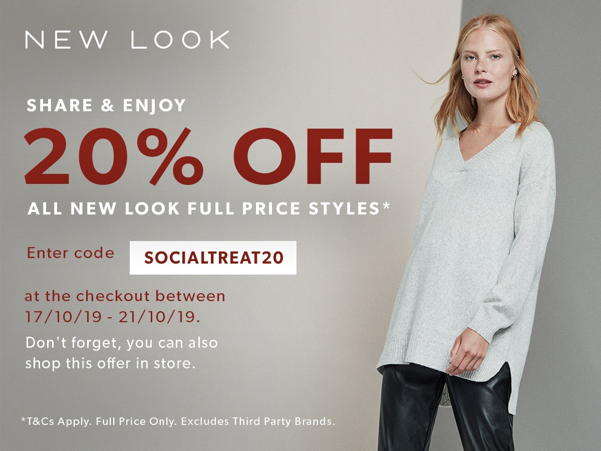 20% OFF At Newlook on ALL Full-priced Items - Ltd Time